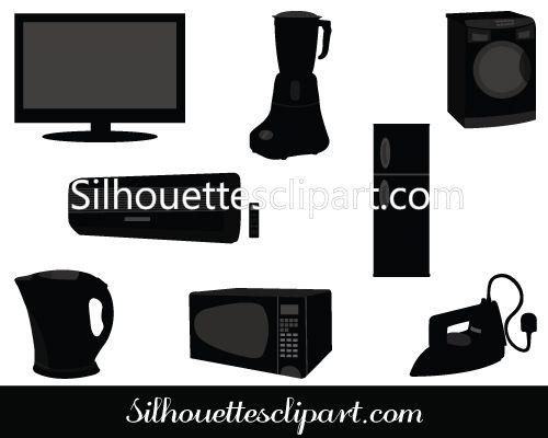 Electronics clipart electronic appliance. Home appliances vector graphics