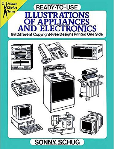 Ready-to-Use Illustrations of Appliances and Electronics: 98 ...
