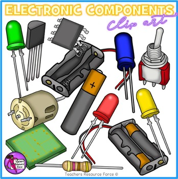 Electronics clipart electronic component. Components and circuit symbols