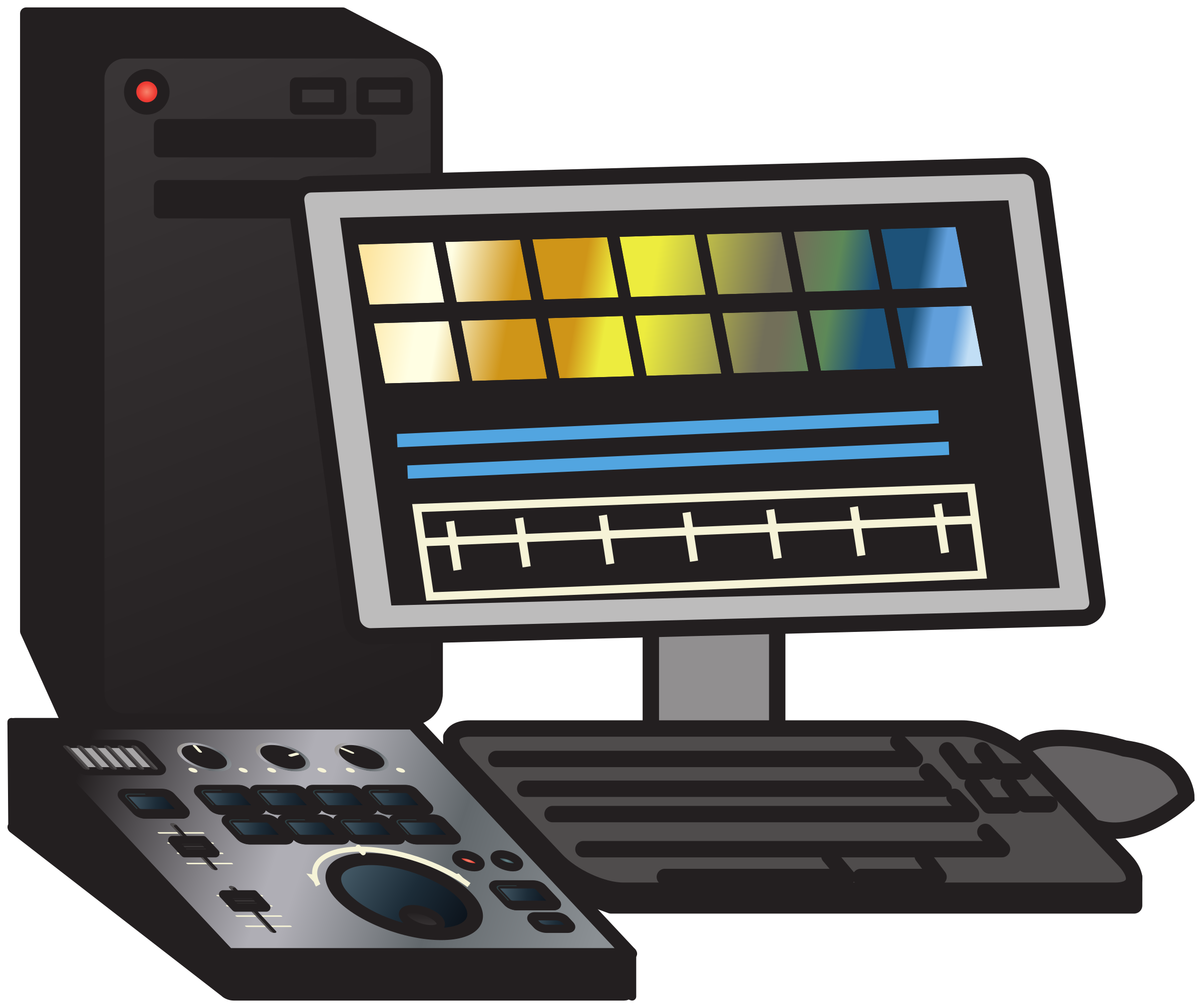 Non linear video editing. Electronics clipart electronic device