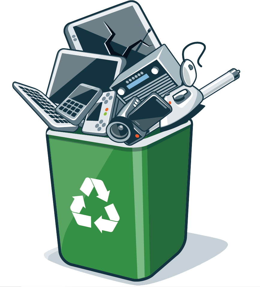 Electronics clipart electronic item. Recycling services atlanta free