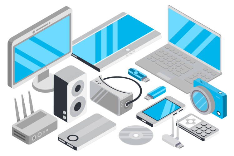 White goods removal disposal. Electronics clipart electronic item