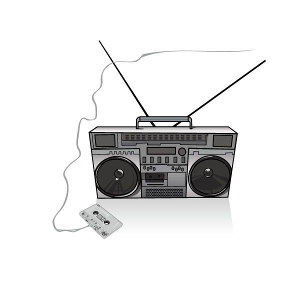 Electronics clipart electronic media. Boombox drawing clip art