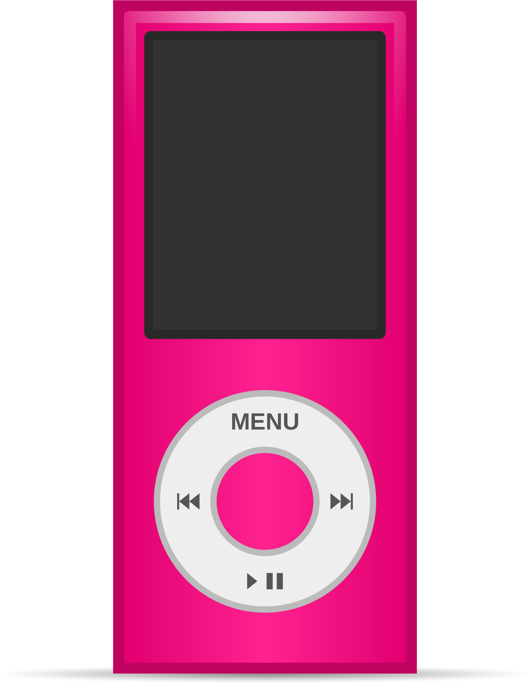 Multimedia player ipod big. Electronics clipart electronic media