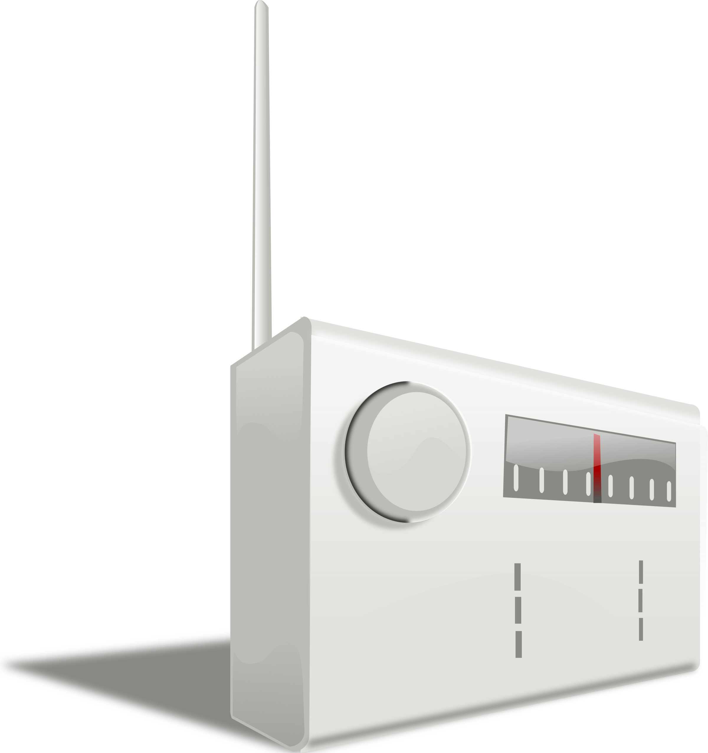 Simple radio big image. Electronics clipart electronic product