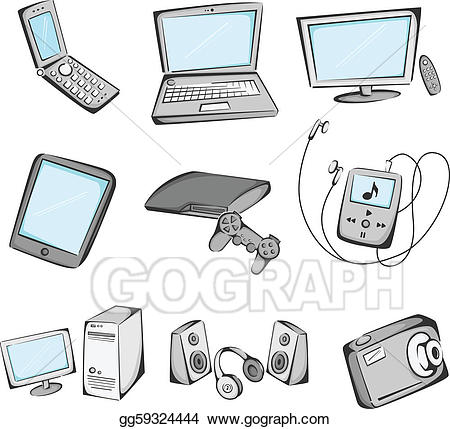Electronics clipart electronic product. Vector stock items icons