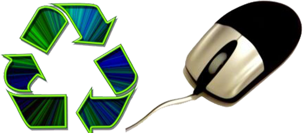 Computer and eco york. Electronics clipart electronic recycling