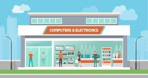 Computers and royalty free. Electronics clipart electronics store