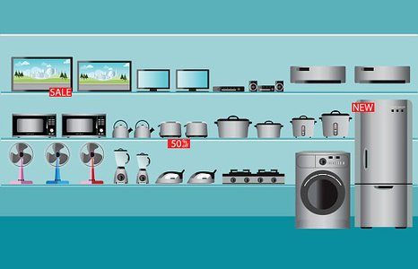 Electronics clipart electronics store. Premium clipartlogo com