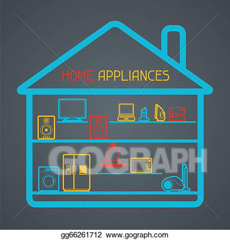 Eps illustration appliances and. Electronics clipart home electronics