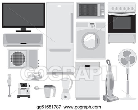 Electronics clipart home electronics. Vector illustration eps