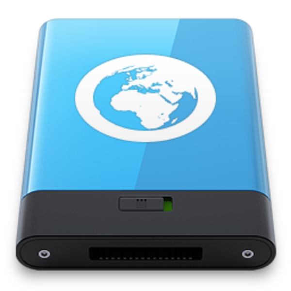 Blue server w free. Electronics clipart icon