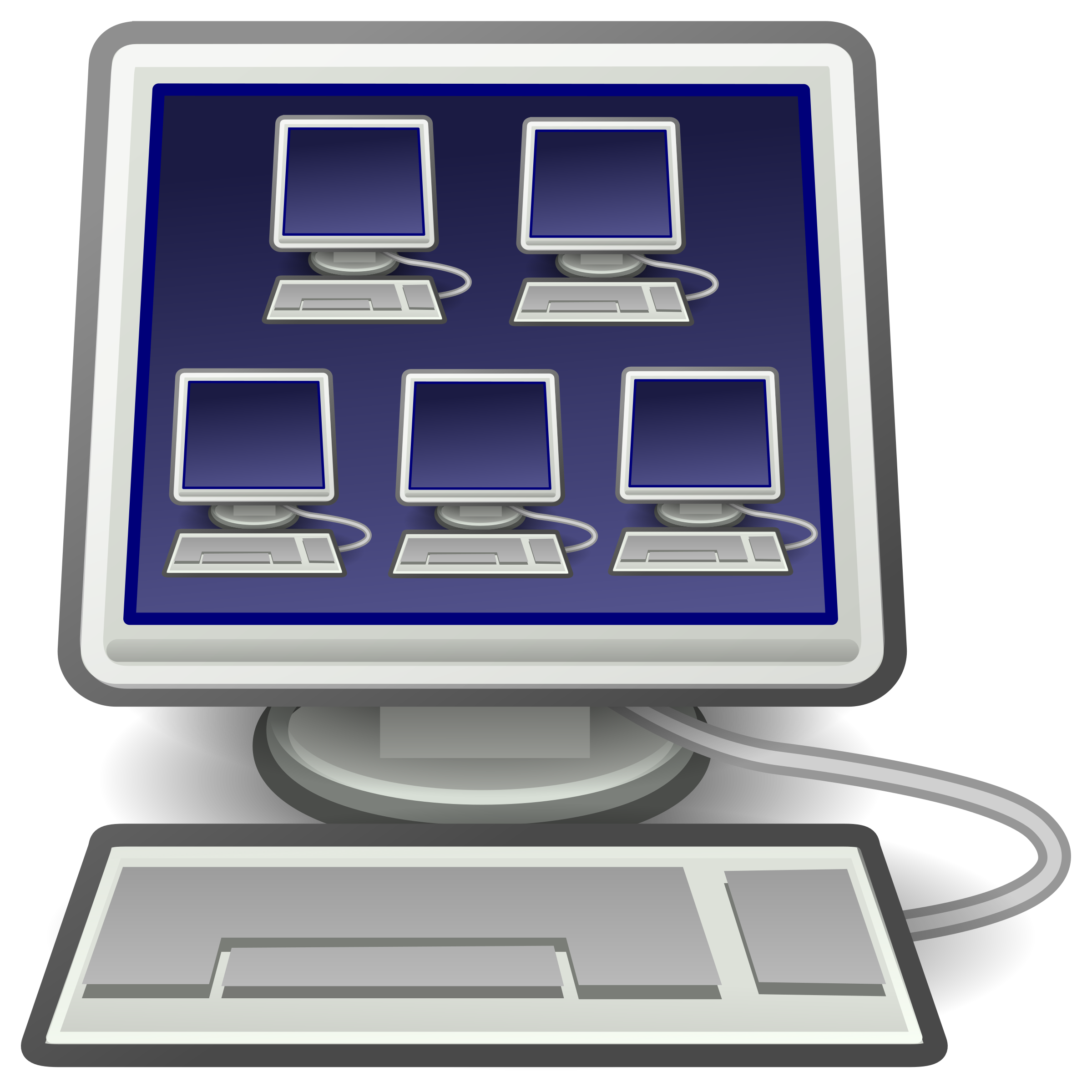 Electronics clipart icon. Virtualization for virtual machines