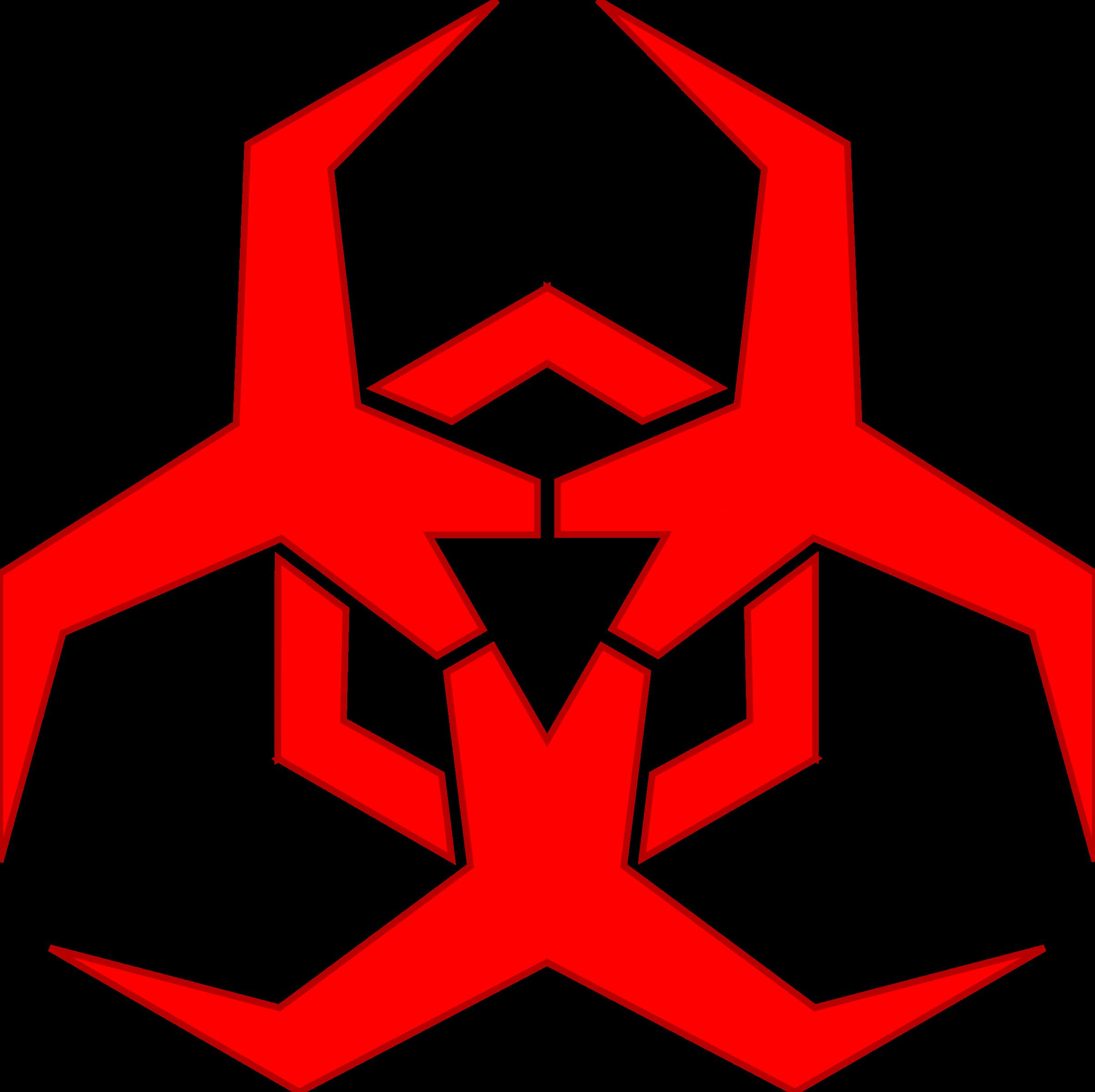 Explorer clipart compass star. Malware hazard symbol red