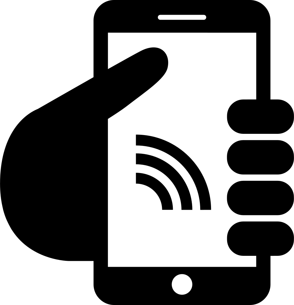 Smartphone with connection svg. Electronics clipart internet symbol