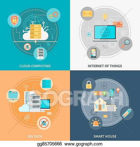 Electronics clipart internet thing. Eps vector electronic systems