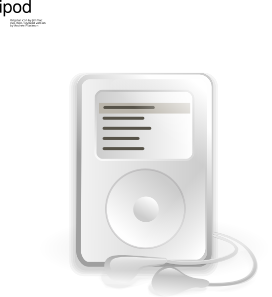 Ipod icon clip art. Electronics clipart music thing