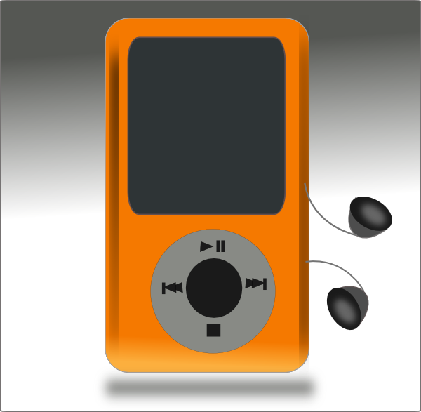 Player clip art at. Electronics clipart music thing