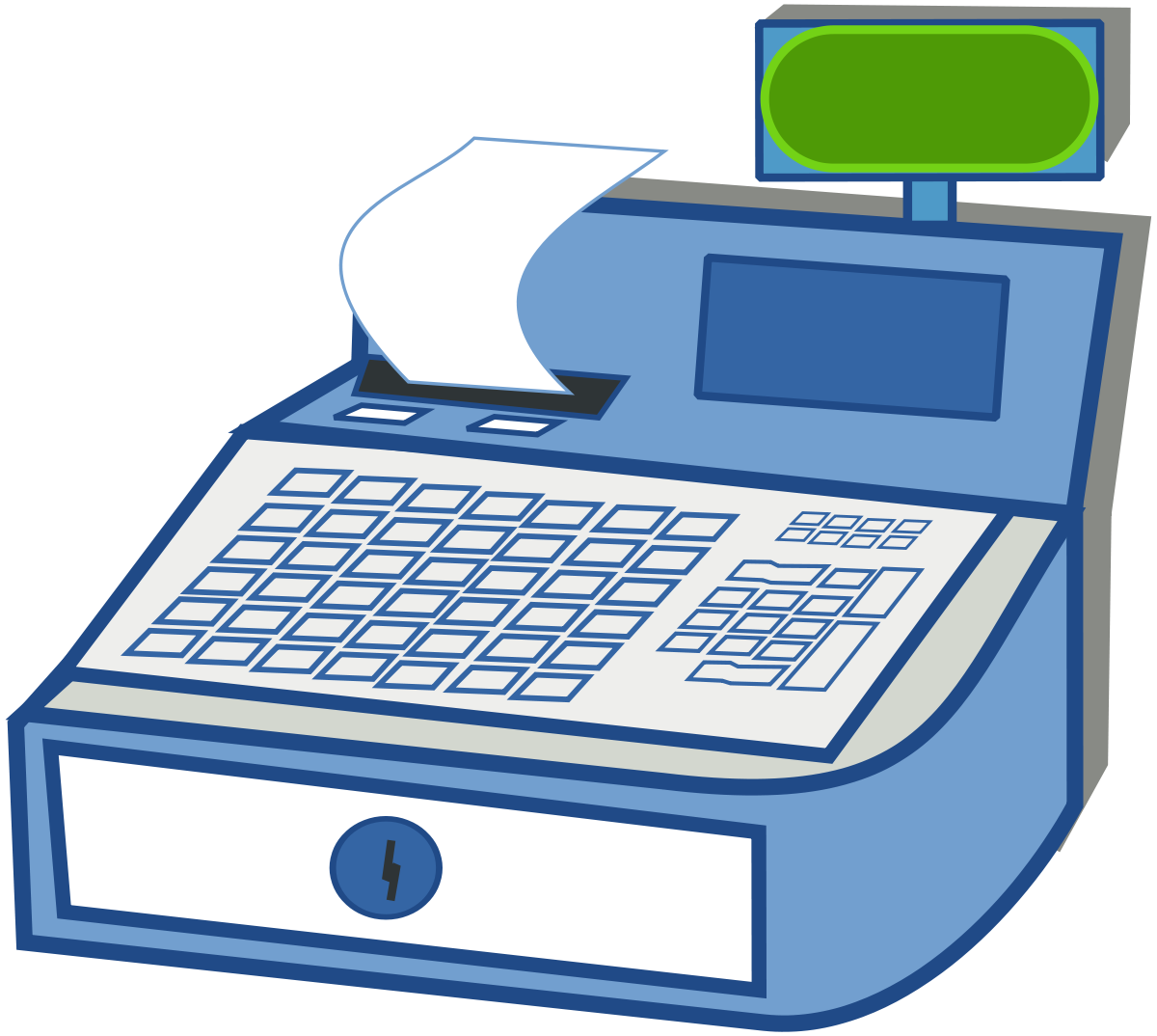 Caisse enregistreuse wiktionary . Electronics clipart office equipments