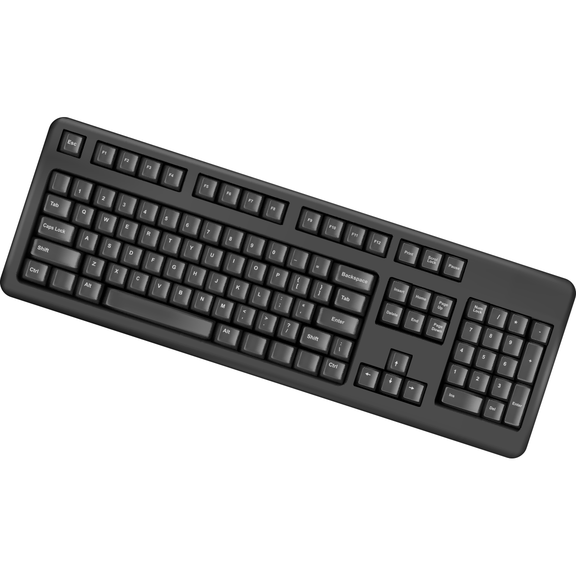 Computer keyboard laptop ps. Electronics clipart personal thing