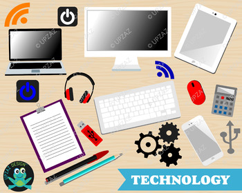 Technology office . Electronics clipart personal thing