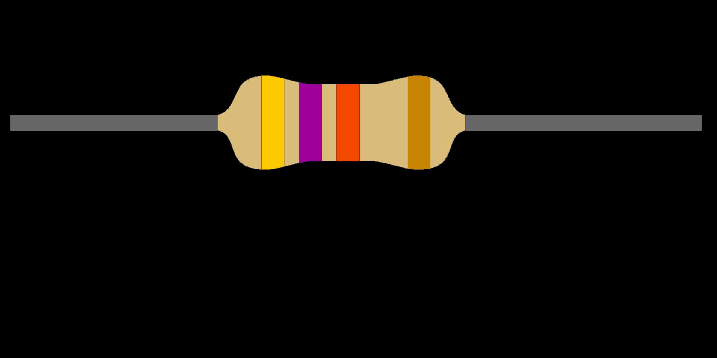 K ohm big image. Electronics clipart resistor