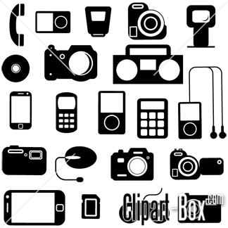Electronics clipart style. Electronic icons set gadgets