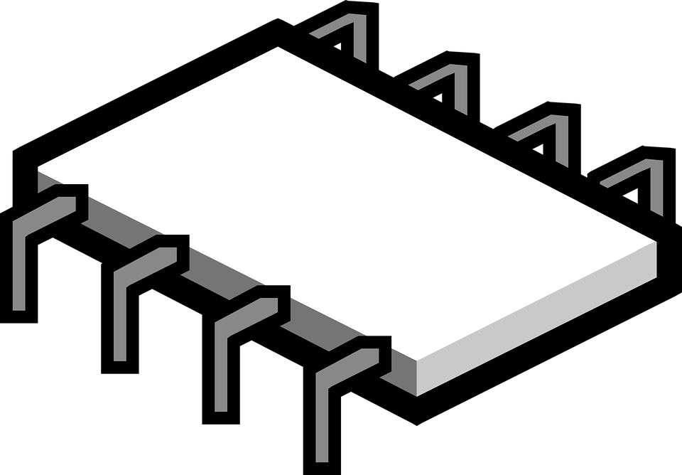 Electronics clipart vector. Chips microchip free electronic
