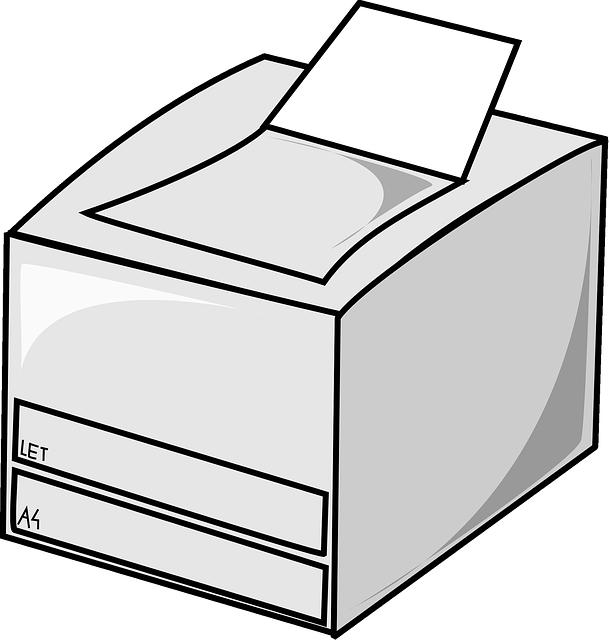 Computer printer icon laser. Electronics clipart vector
