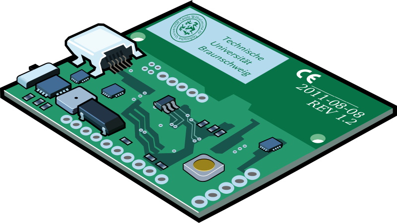 Electronics clipart vector. Circuit board png real
