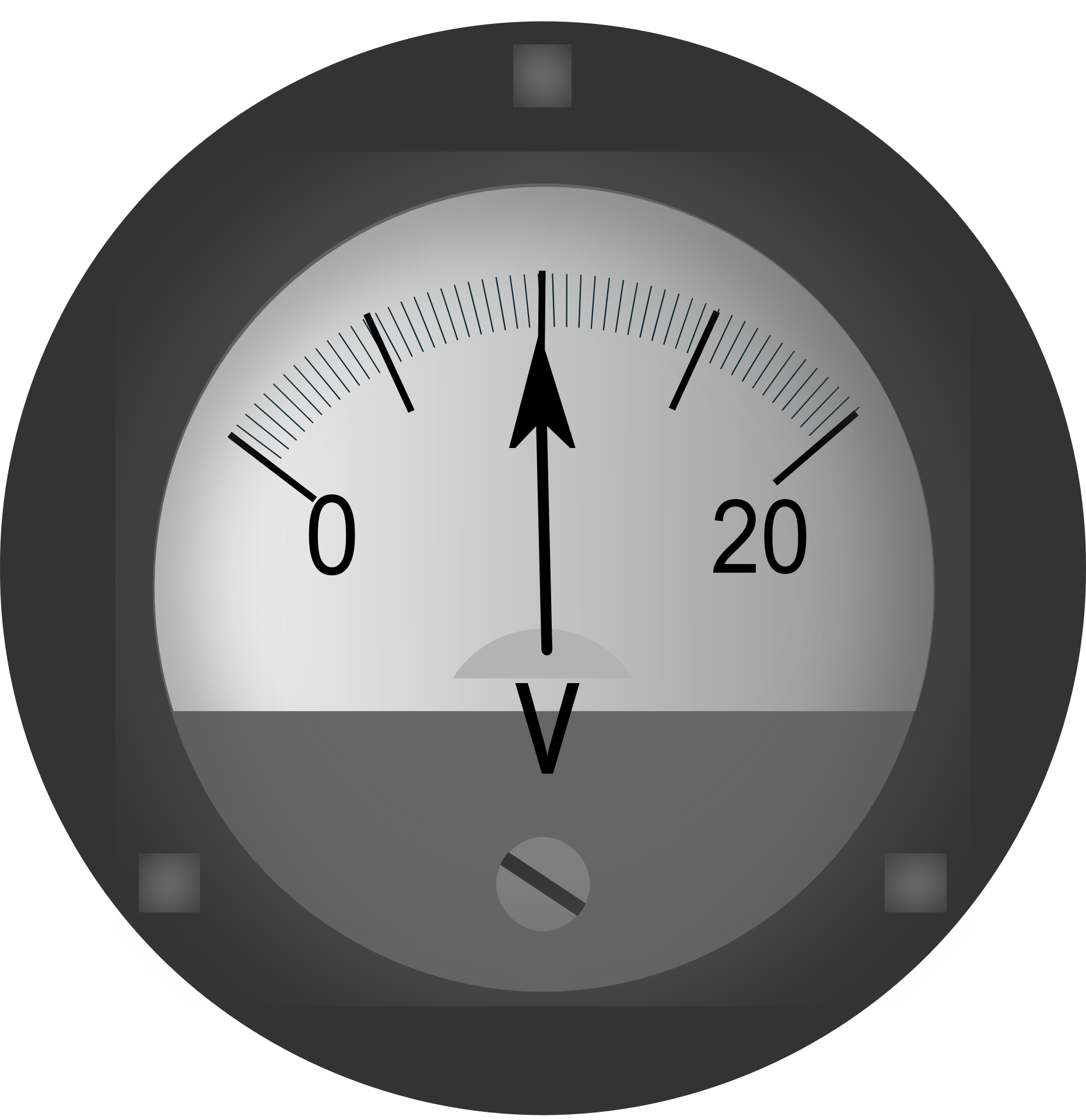 Drawing of free image. Electronics clipart voltmeter