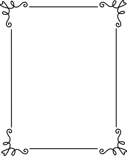 Image frame simple black. Elegant border png