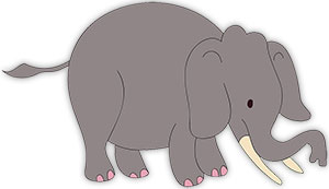 Free animations gifs. Elephant clipart