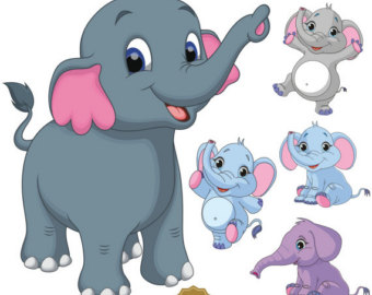 Clip art etsy baby. Chain clipart elephant