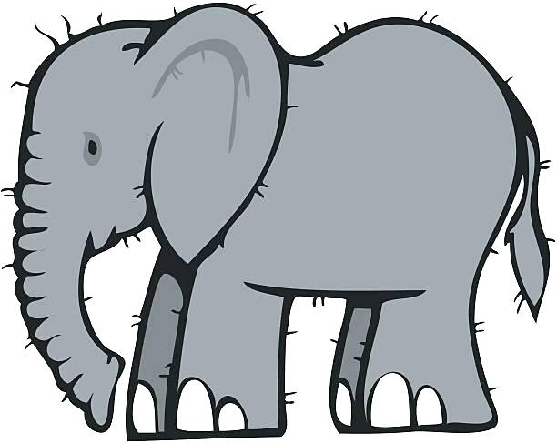 Elephant clipart. Baby silhouette clip art