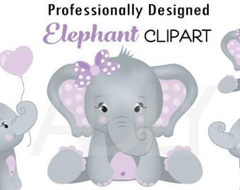 Etsy . Elephant clipart baby girl