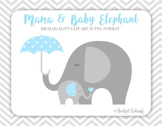 Elephant clipart baby shower. Commercial use instant download
