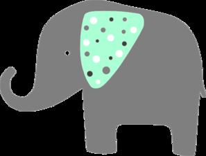 Elephant clipart mint. Green clip art at