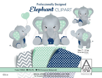 Elephant clipart mint. Navy blue baby peanut