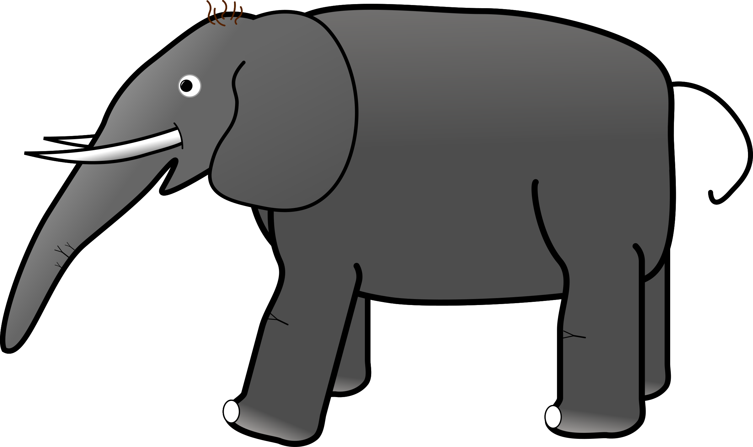 Grey icons png free. Clipart elephant plain