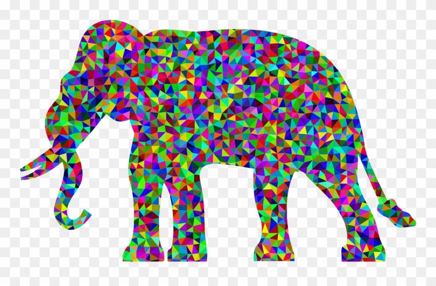 Asian black . Elephant clipart rainbow
