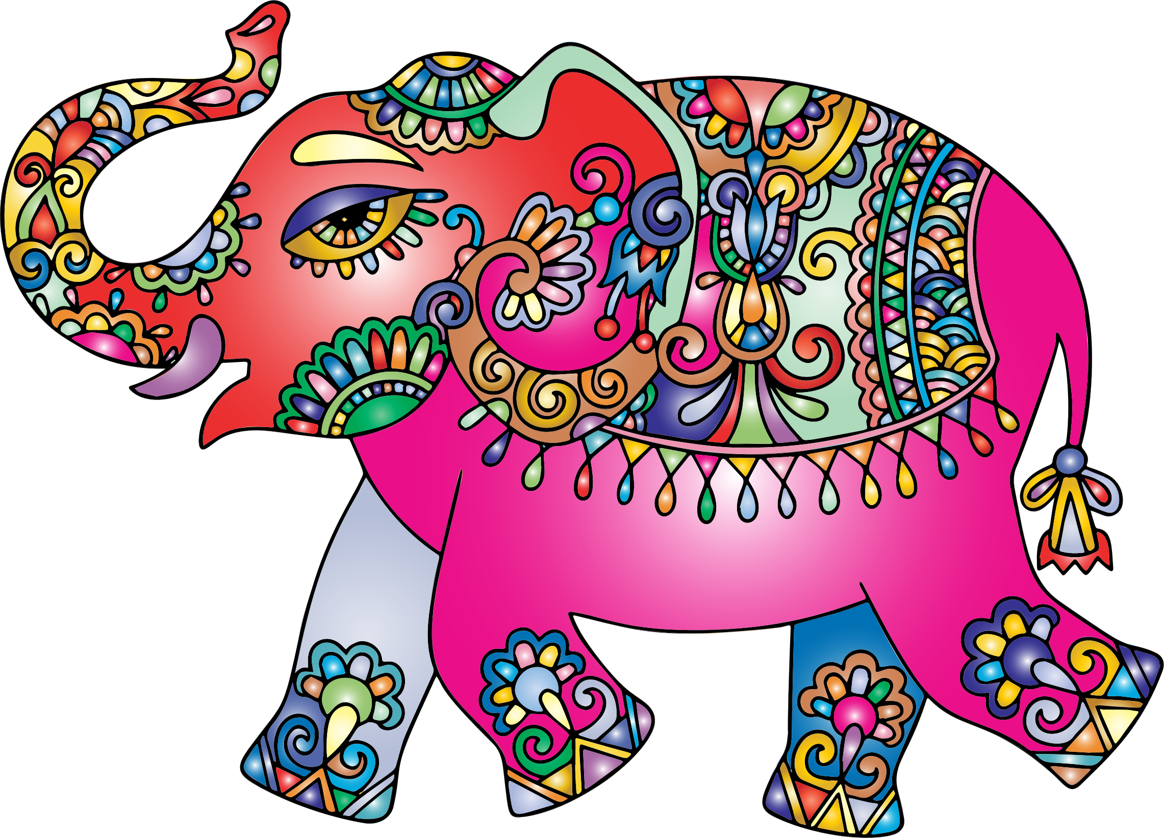 Elephant clipart rainbow. Prismatic playful big image