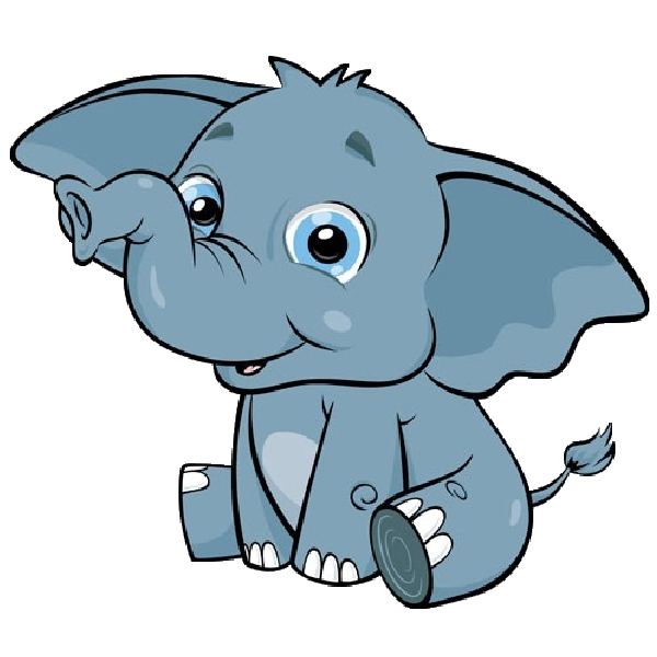 Cartoon pictures free download. Face clipart baby elephant