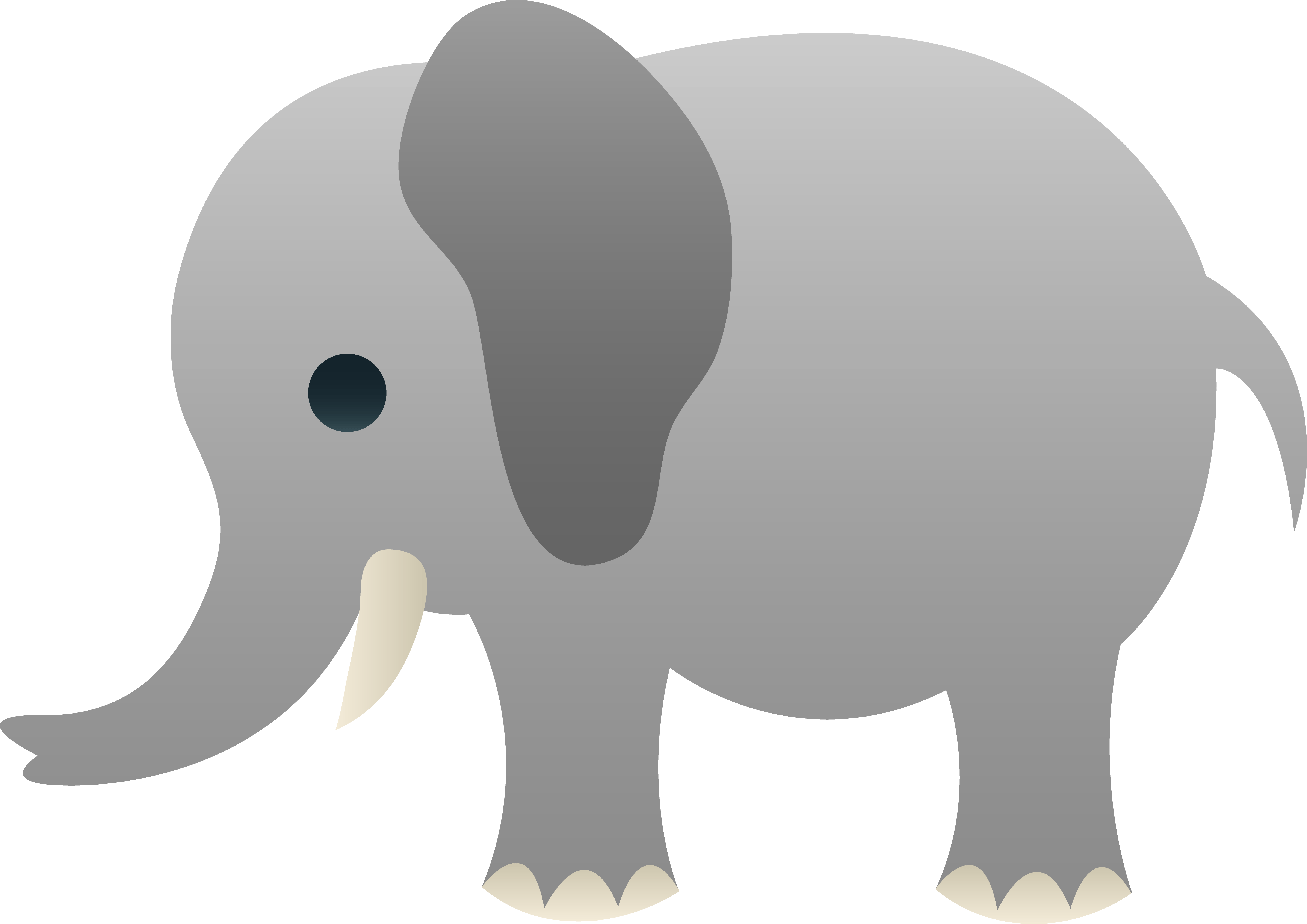 Free cliparts download clip. Clipart elephant plain