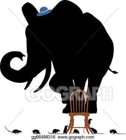 Elephants clipart rat. Eps vector scared elephant