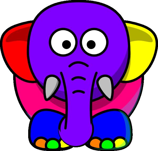Cartoon elephant clip art. Elephants clipart vector