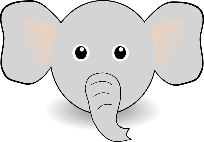 collection of high. Face clipart baby elephant