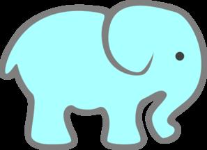Free elephant stencils blue. Elephants clipart vector