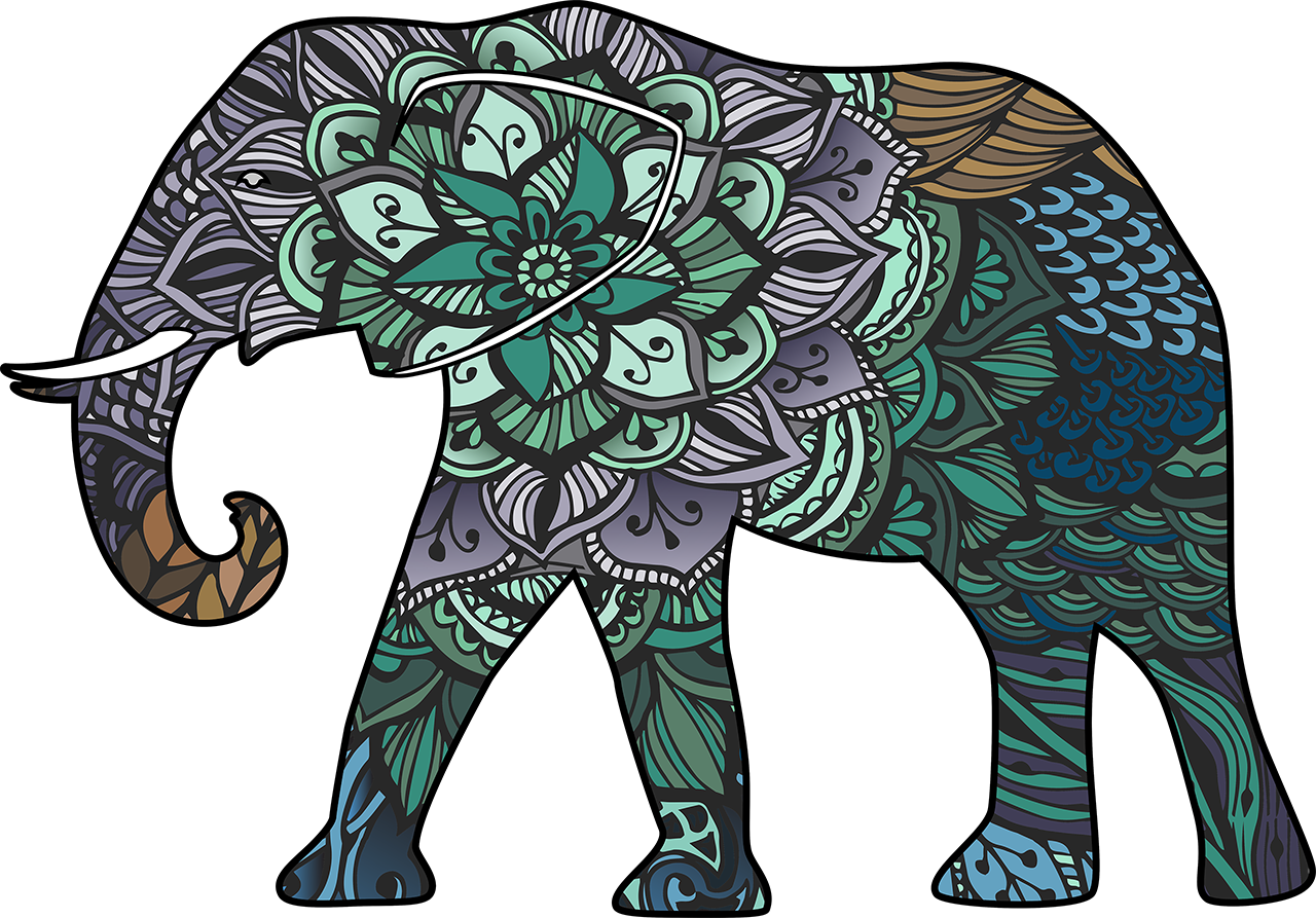 Mandala clipart elephant. About our studio yogatown