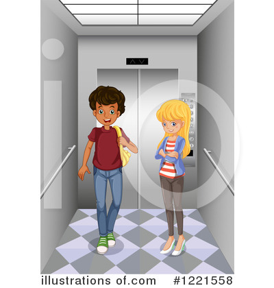 Illustration by graphics rf. Elevator clipart
